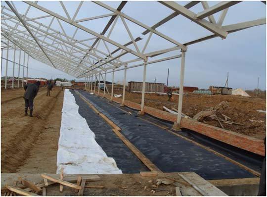 Изоляция ж/бетонных полов на молочной ферме