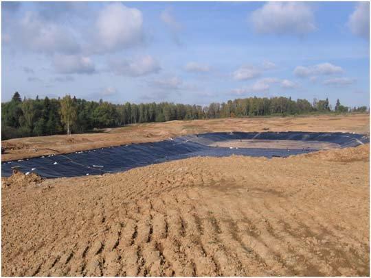 Гидроизоляция искусственных водоемов на гольф-поле